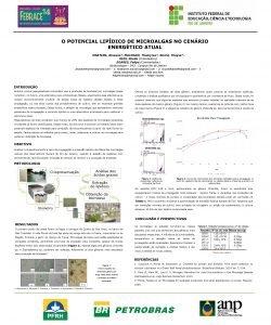O POTENCIAL LIPDICO DE MICROALGAS NO CENRIO ENERGTICO