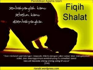 Fiqih Shalat Pengertian Shalat Bahasa Doa Istilah serangkaian