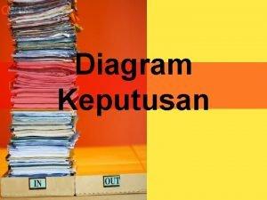 Diagram Keputusan Diagram Keputusan l Suatu diagram yang