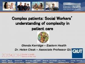 Complex patients Social Workers understanding of complexity in