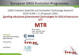 European GNSS Evolution Programme 1 26 GNSS Evolution