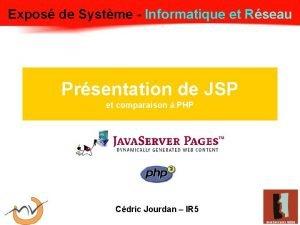 Expos de Systme Informatique et Rseau Expos Systme