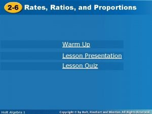 2 6 Rates Ratios and Proportions 2 6