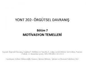 YONT 202 RGTSEL DAVRANI Blm 7 MOTVASYON TEMELLER