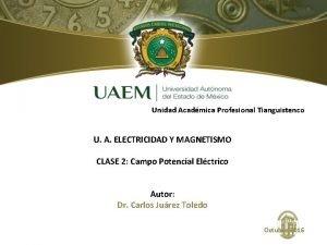 Unidad Acadmica Profesional Tianguistenco U A ELECTRICIDAD Y