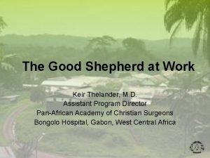 The Good Shepherd at Work Keir Thelander M