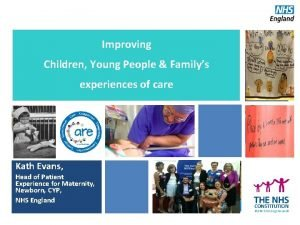Improving Children Young People Familys Strategic Framework experiences