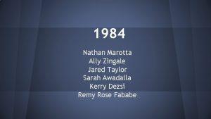 1984 Nathan Marotta Ally Zingale Jared Taylor Sarah