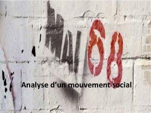 Analyse dun mouvement social Le contexte Contexte politique