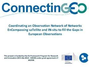 Coordinating an Observation Network of Networks En Compassing
