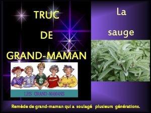 TRUC La DE sauge GRANDMAMAN LES GRANDMAMANS Remde