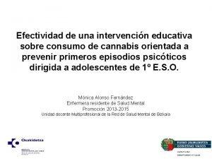 Efectividad de una intervencin educativa sobre consumo de