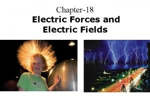 Chapter18 Electric Forces and Electric Fields Electric Charge