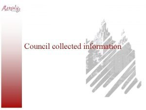 Council collected information Council datasets Small area population