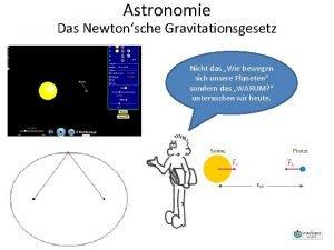 Astronomie Das Newtonsche Gravitationsgesetz Nicht das Wie bewegen