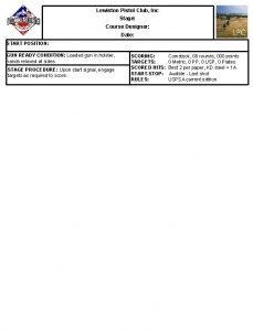Lewiston Pistol Club Inc Stage Course Designer Date