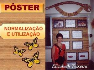 PSTER NORMALIZAO E UTILIZAO Elizabeth Teixeira O PSTER