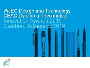 WJEC Design and Technology CBAC Dylunio a Thechnoleg