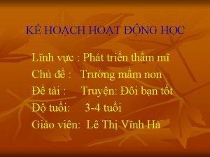K HOCH HOT NG HC Lnh vc Pht