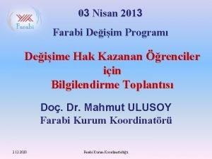 03 Nisan 2013 Farabi Deiim Program Deiime Hak