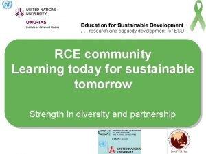 Education for Sustainable Development research and capacity development