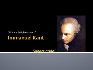 What is Enlightenment Immanuel Kant Sapere aude Background