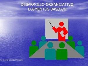 DESARROLLO ORGANIZATIVO ELEMENTOS BSICOS Prof Leyla Escobar Serrano
