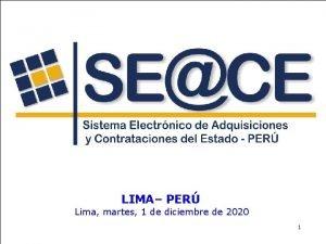 Lima martes 1 de diciembre de 2020 LIMA