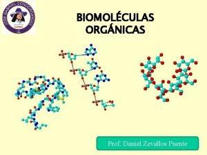 BIOMOLCULAS ORGNICAS Prof Daniel Zevallos Puente Biomolculas La