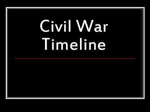 Civil War Timeline 1860 November 6 1860 Abraham