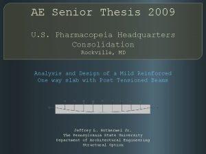 AE Senior Thesis 2009 U S Pharmacopeia Headquarters