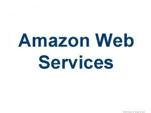 Amazon Web Services 2010 VMware Inc All rights