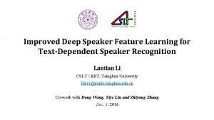 Improved Deep Speaker Feature Learning for TextDependent Speaker