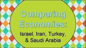 Comparing Economies Israel Iran Turkey Saudi Arabia Standards