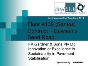 Aust Stab Awards of Excellence 2013 Fluor K