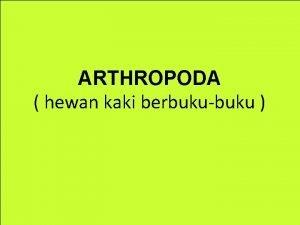 ARTHROPODA hewan kaki berbukubuku Klasifikasi Arthropoda Crustacea golongan