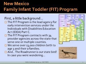 New Mexico Family Infant Toddler FIT Program First