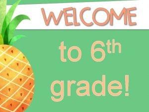 th 6 to grade Mrs Lorie Dillard MATH