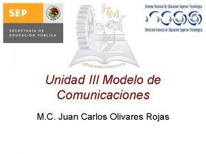 Unidad III Modelo de Comunicaciones M C Juan