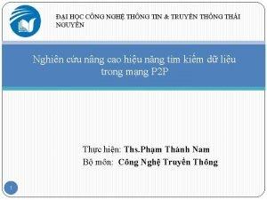I HC CNG NGH THNG TIN TRUYN THNG
