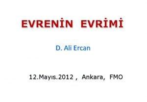 EVRENN EVRM D Ali Ercan 12 Mays 2012