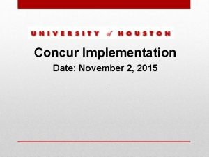 Concur Implementation Date November 2 2015 Concur Travel