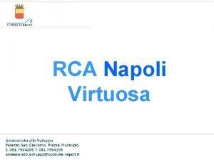 RCA Napoli Virtuosa RCA Napoli Virtuosa Misure a