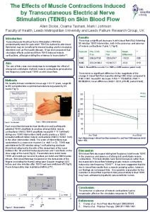 The Effects of Muscle Contractions Induced by Transcutaneous