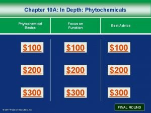 Chapter 10 A In Depth Phytochemicals Phytochemical Basics