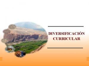 DIVERSIFICACIN CURRICULAR DIVERSIFICACIN CURRICULAR A las necesidades demandas