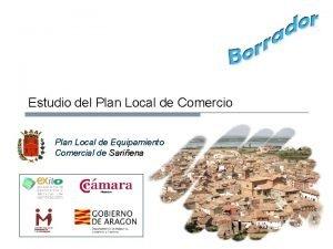 Estudio del Plan Local de Comercio Plan Local