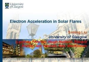 Electron Acceleration in Solar Flares Siming Liu University