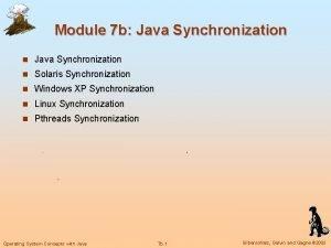 Module 7 b Java Synchronization n Solaris Synchronization