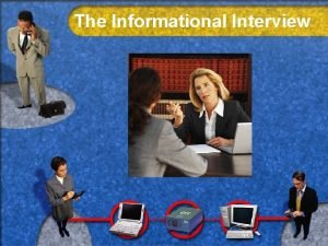 The Informational Interview What Interview designed to produce